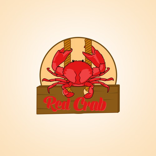 "Logo for ""Red Crab"" seafood restaurant"