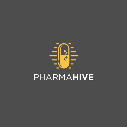 PharmaHive logo design