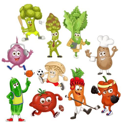 Veggies Mascots