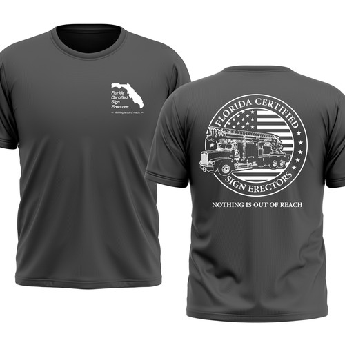 T Shirt Design for Florida Certified Sign Comapany