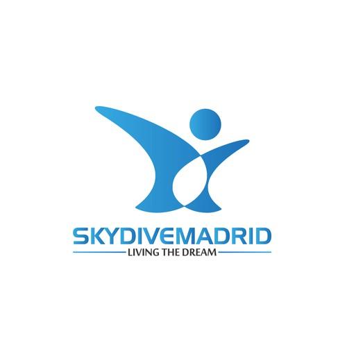 logo skydiving school. Drope zone. Skydive Madrid