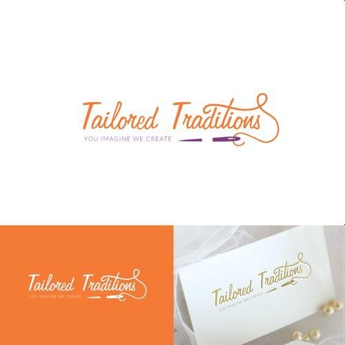 Creative elegant logo design for Tailored Traditions