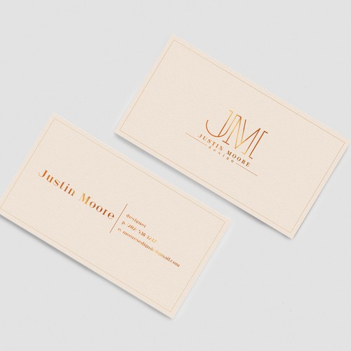 Justin Moore Business card
