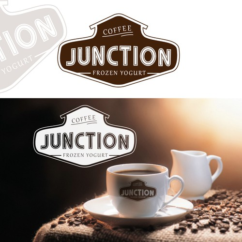 Create a clean and simple logo for Junction (coffee & dessert bar)!