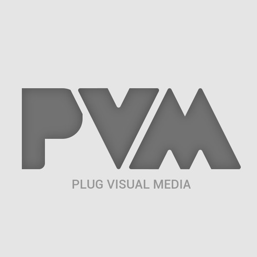Create a logo to convey visual creativity, good composition for Plug Visual Media
