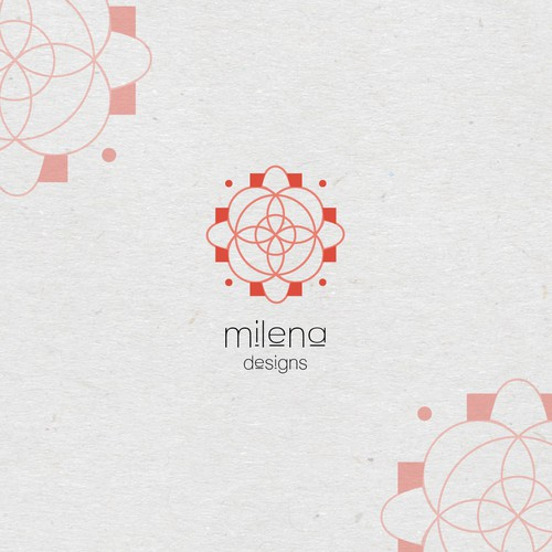 Logo for Milena Designs clothing line 2