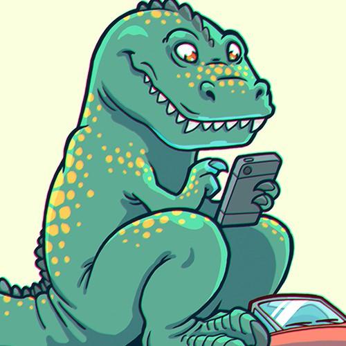 """Stop Wrex"" dinosaur"