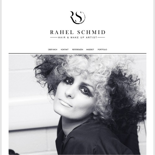logo and website concept for hair & makeup artist