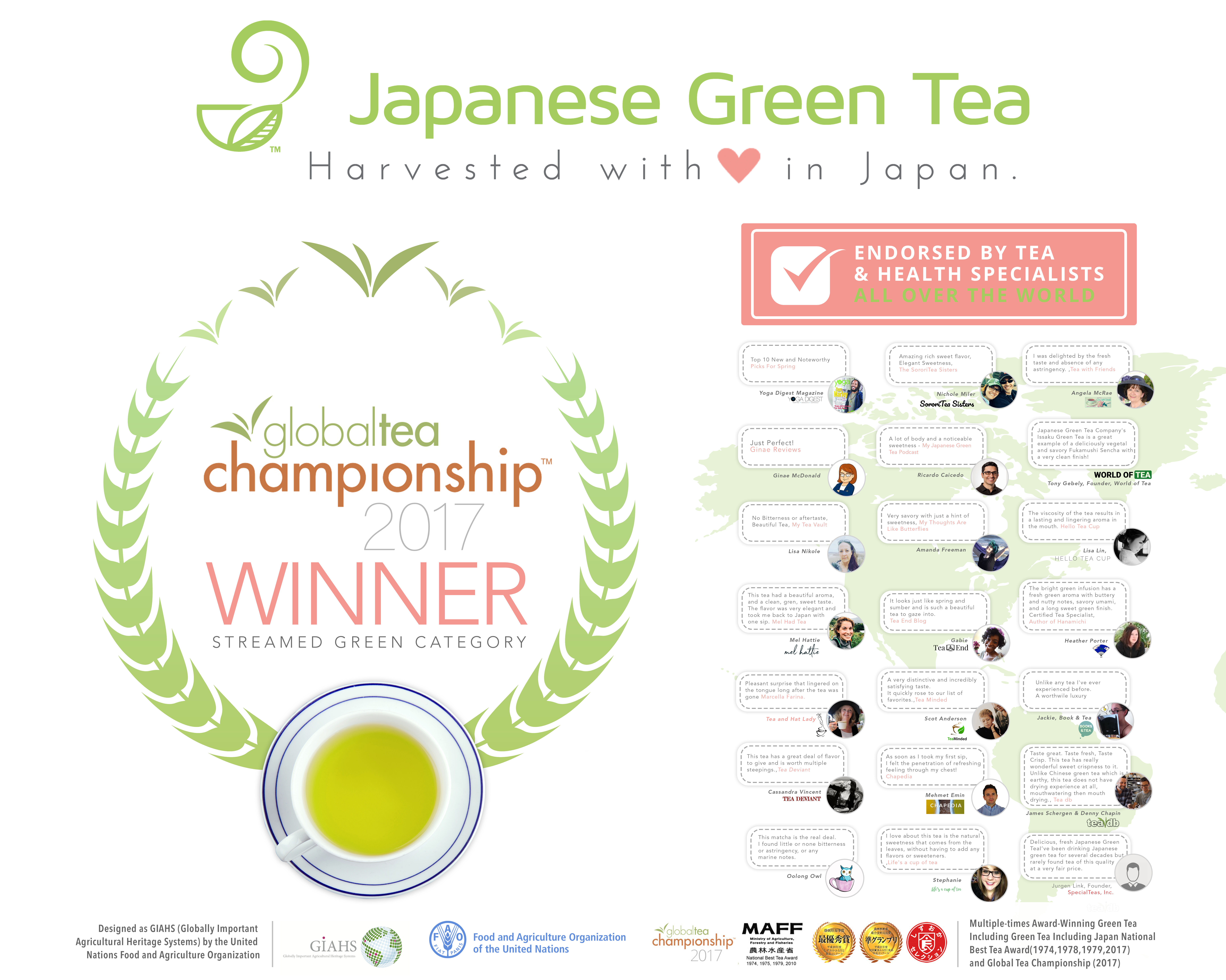 Trade Show Expo Booth Background Banner Design for Japanese Green Tea Company