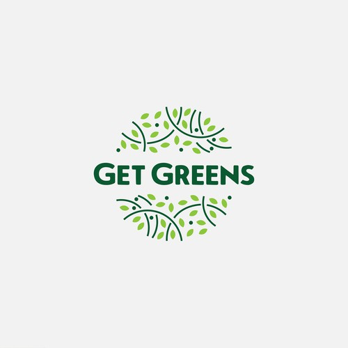 Get greens logo design