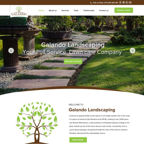Website for Lawn and Gardening landscaping
