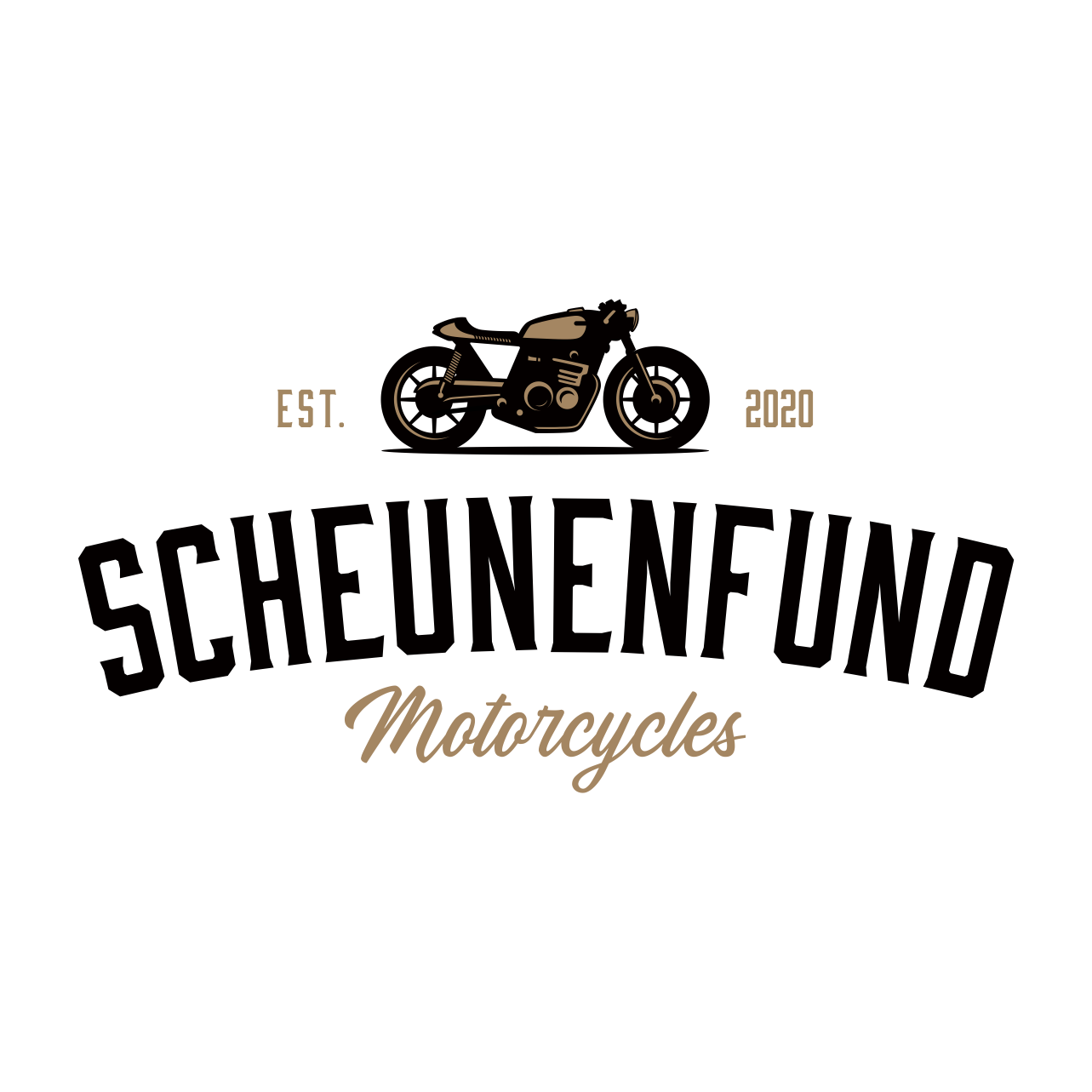 Design a vintage logo for a motorcycle restoration company
