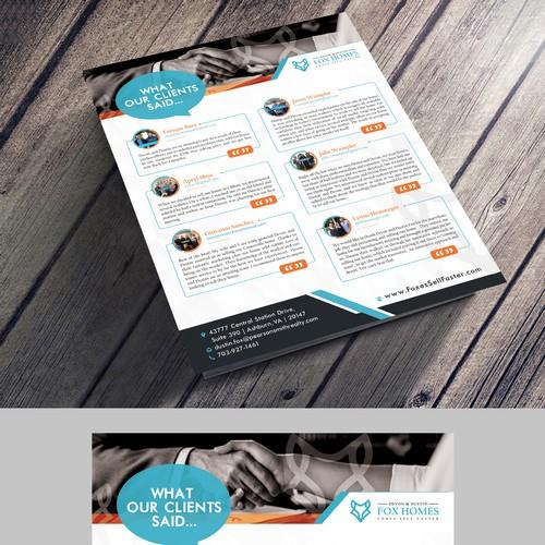 Client Testimonial flyer