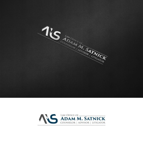 Negative space logo for a law office