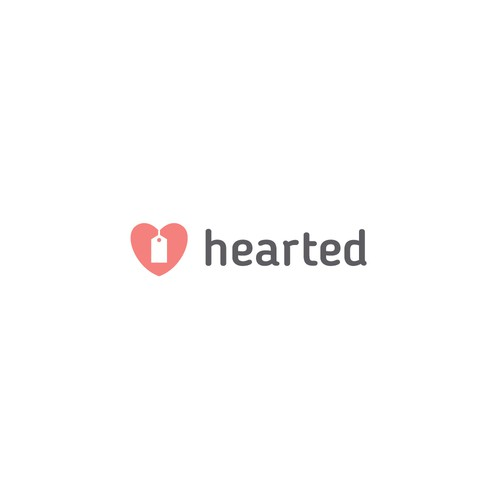 Heart and label logo