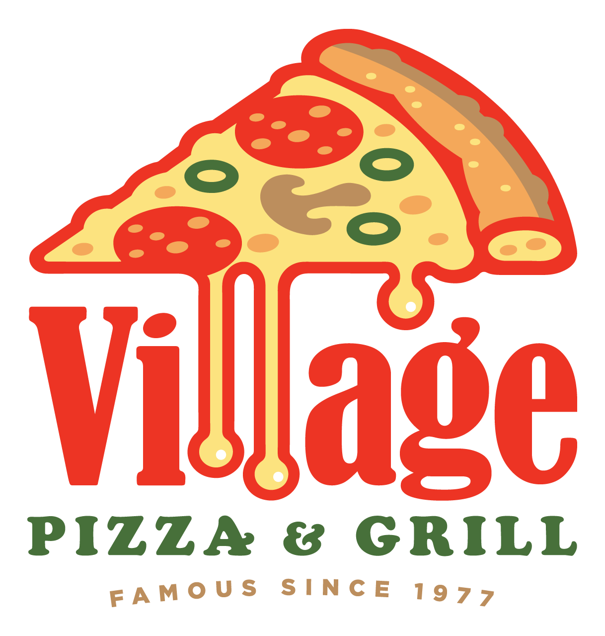 VILLAGE PIZZA GRILL needs a powerful new logo that stands out.