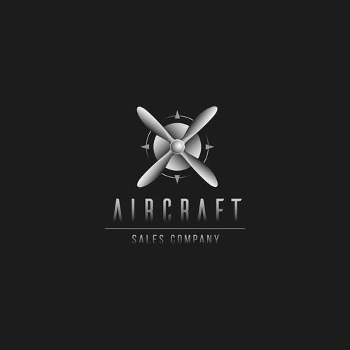 Moder retro logo design for airplane sales company