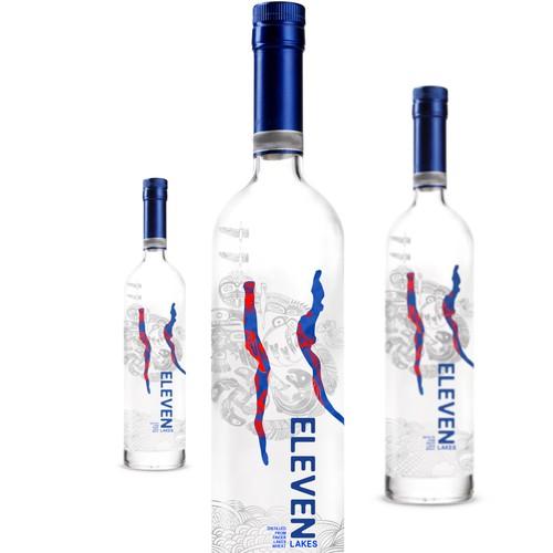 Label for a new premium American vodka.