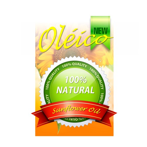 Create a product label for sunflower oil