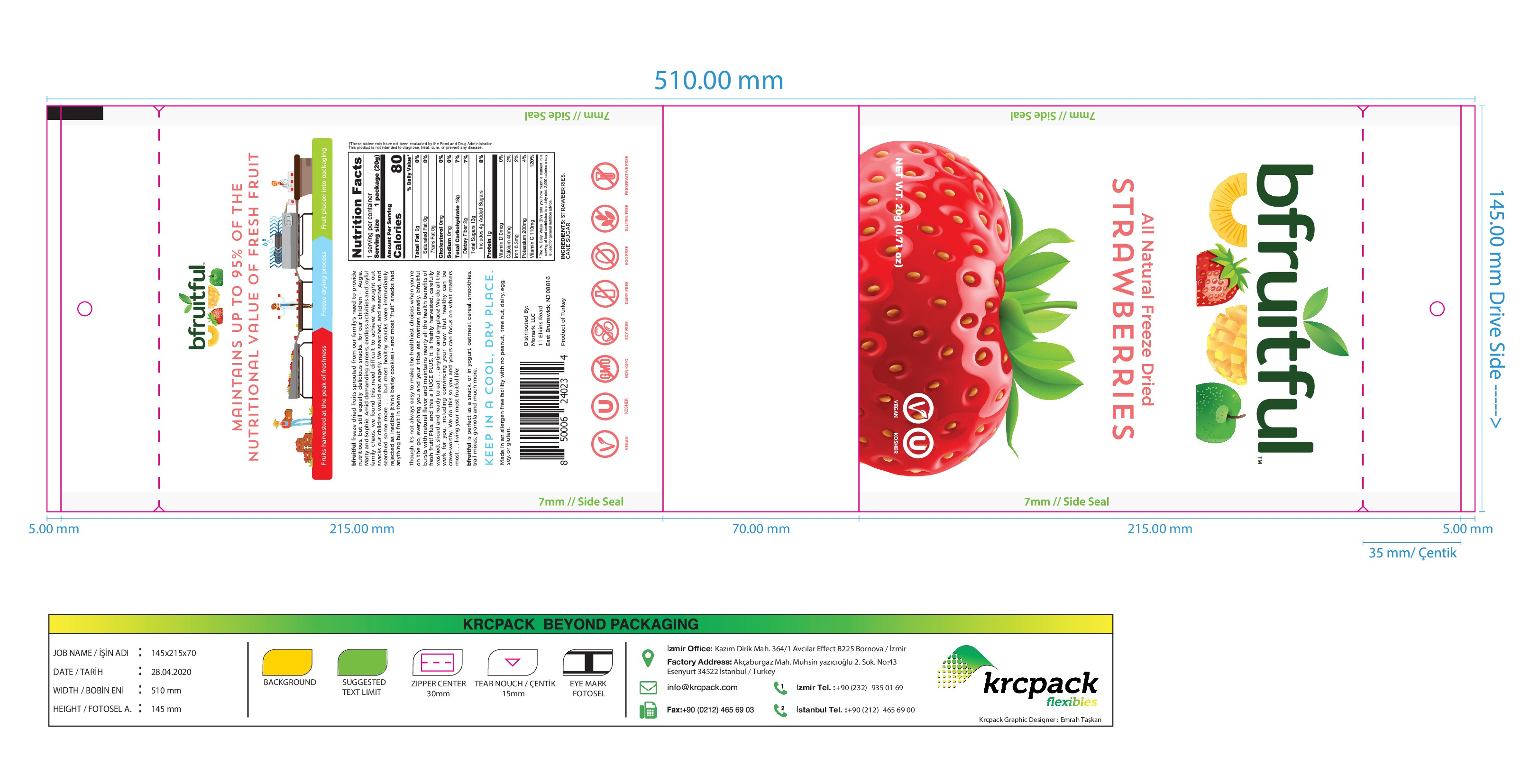 ** Looking for an EYE-CATCHING and ELEGANT design for All Natural Freeze Dried Fruit **