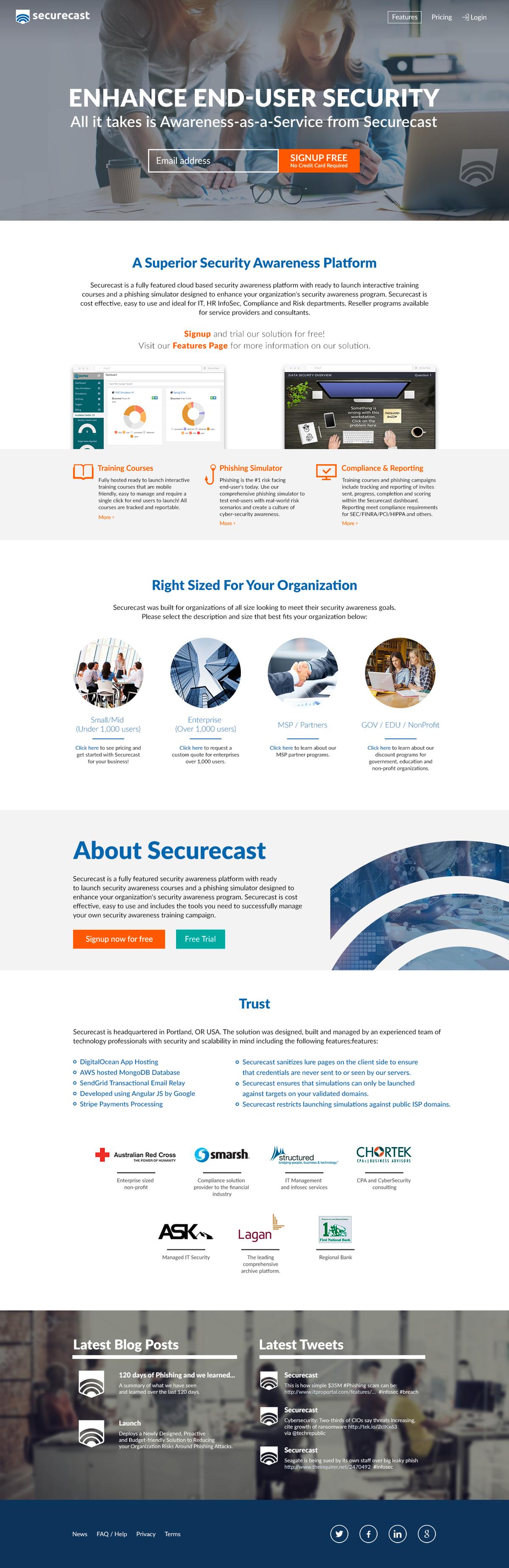 Website re-design with new service focus - quickphish.com