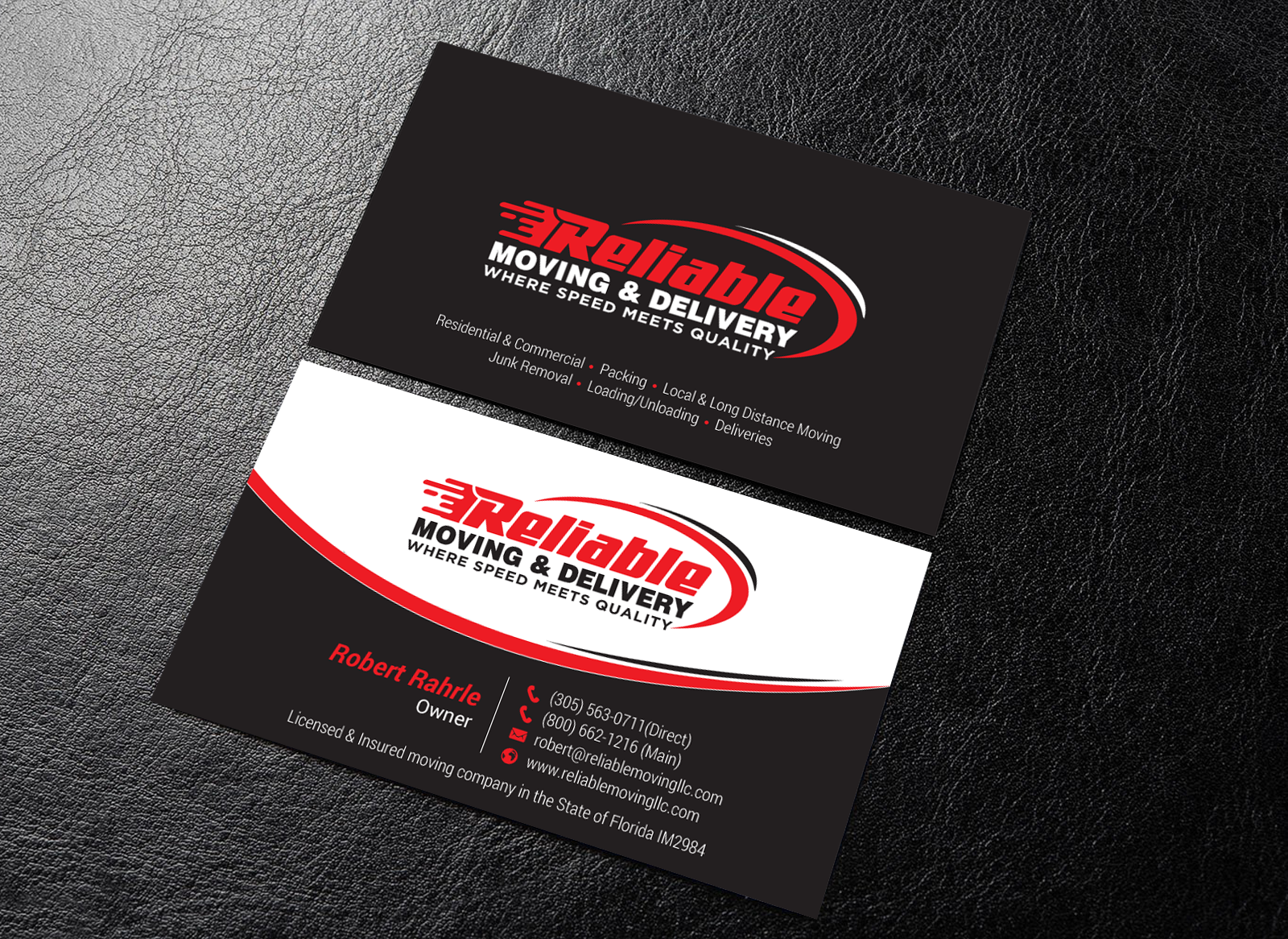 Business Card Design for Moving Company