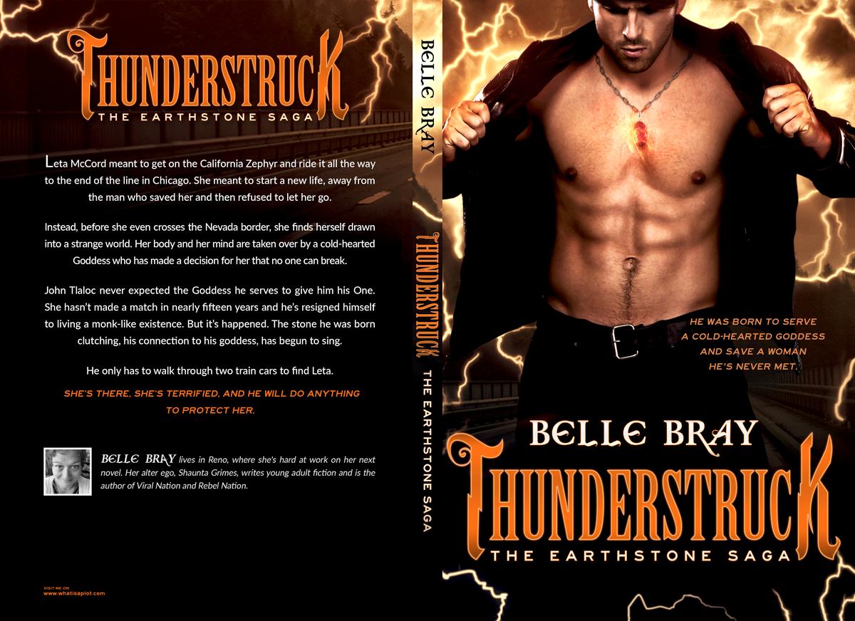Paperback cover - Thunderstruck