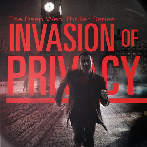 Create a suspenseful cover design for Invasion of Privacy.