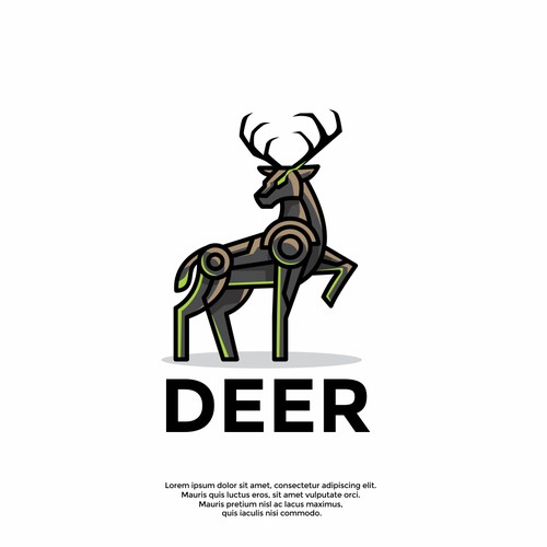 unique deer logo