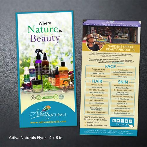 Adiva Naturals Flyer