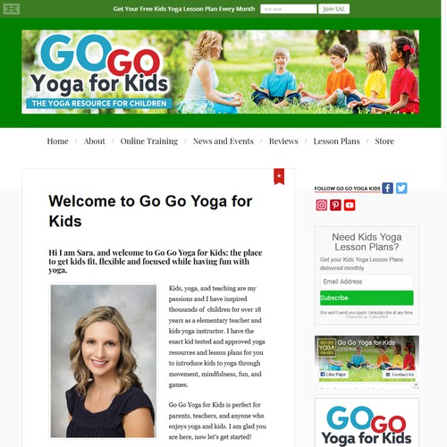 Go Go Yoga for Kids Header