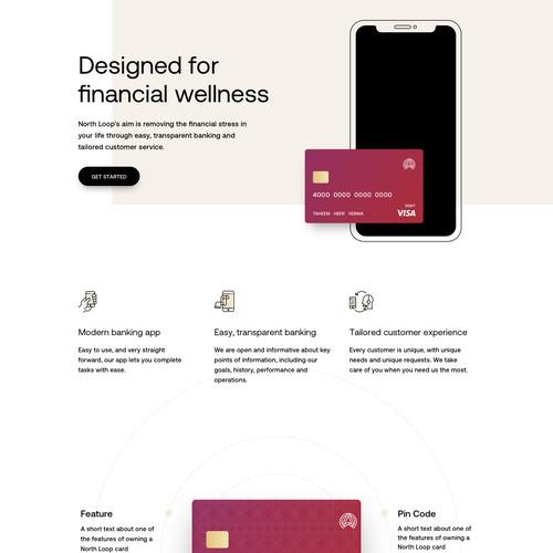 Online banking app website