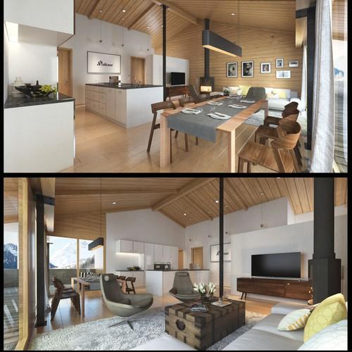 Lodge Interior Design and Visualization