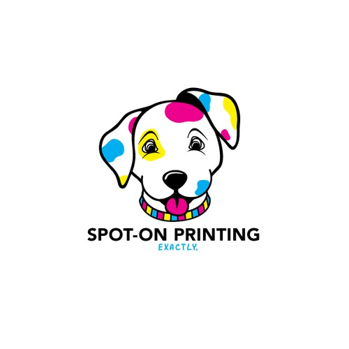 Design around a dalmatian with CMYK spots!
