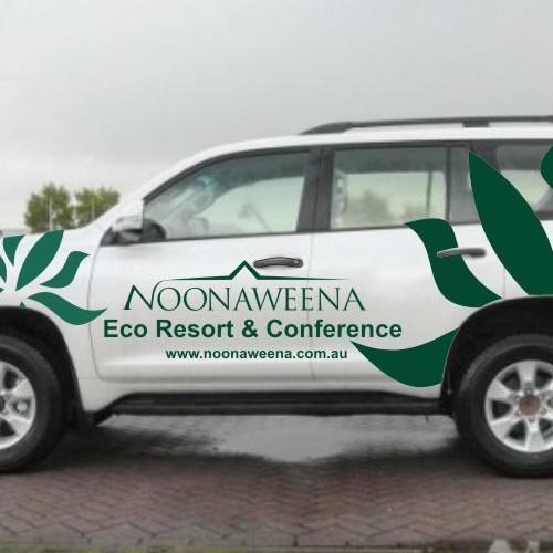 Eco resort car wrap