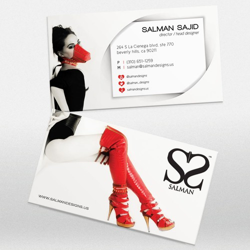 HIGH FASHION SEXY COUTURE BUSINESS CARD - SALMAN™ DESIGNS