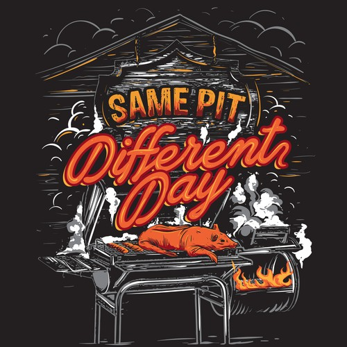 BBQ illustration base t-shirt