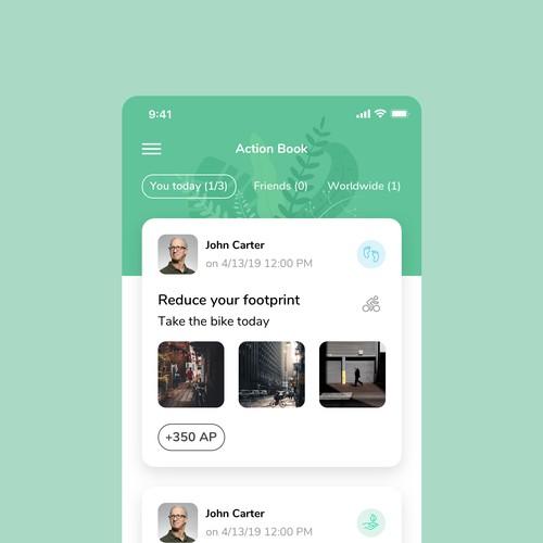 iOS app design contest entry