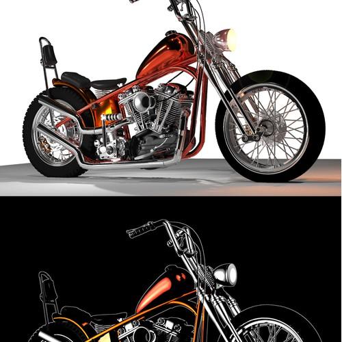 Harley Davidson Knucklehead chopper