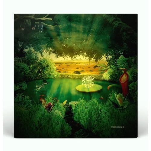 "Green Desert Water ""Solar Plexus"" album artwork."