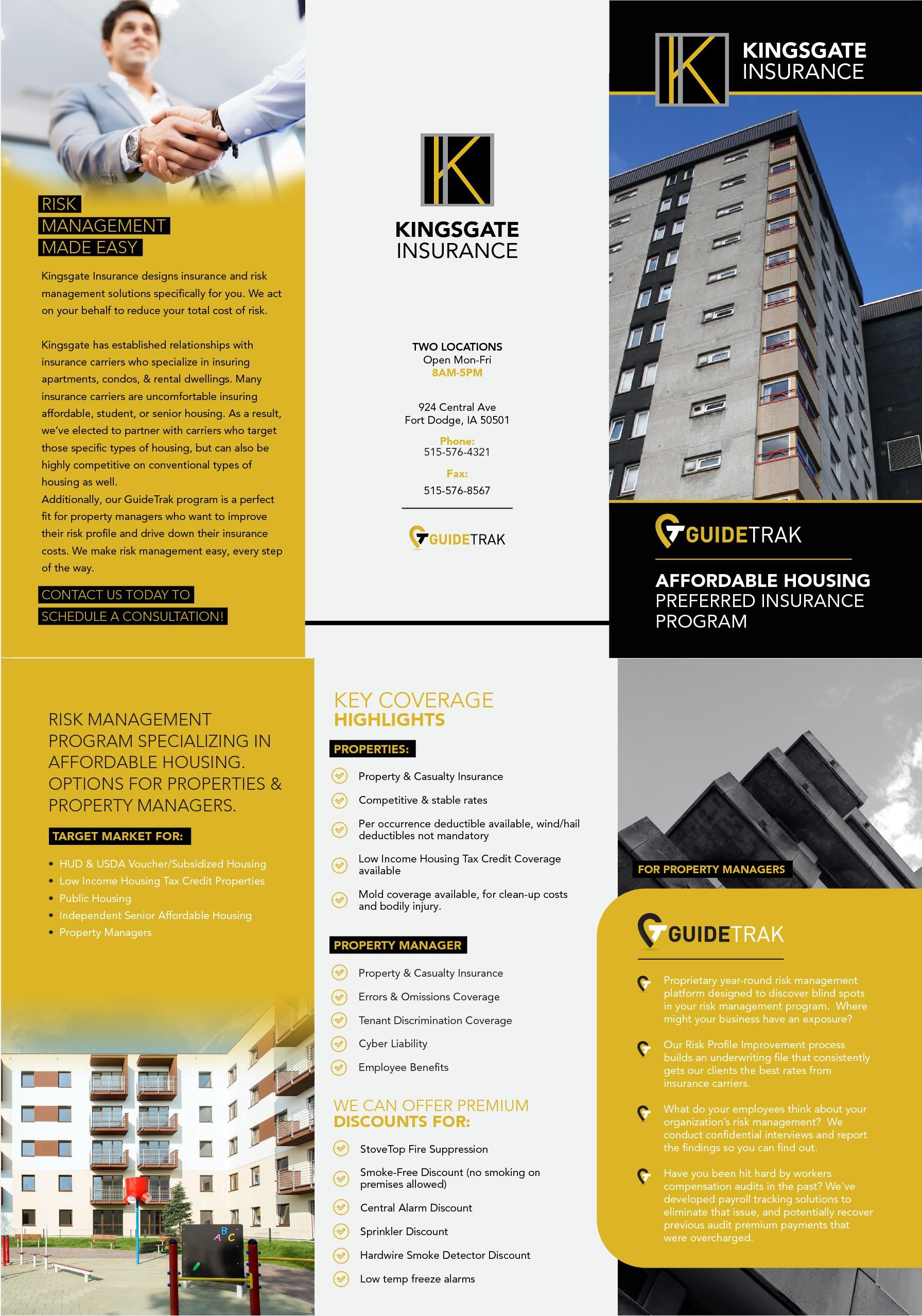 Brochure for Insurance/Risk Management Program