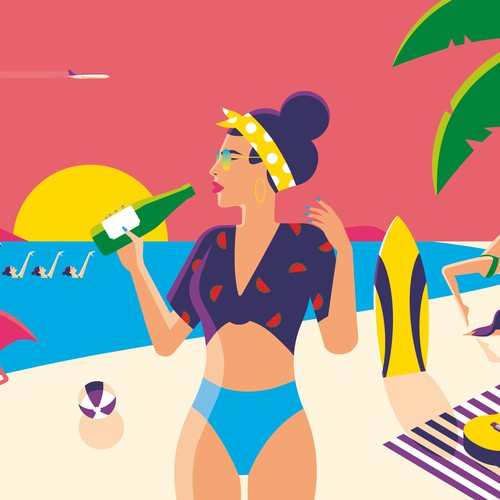 Beach Illustration 2