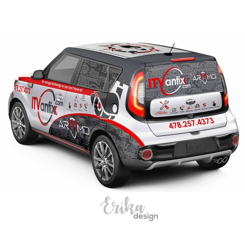 2017 Kia Soul Wrap Design for  ITVantix