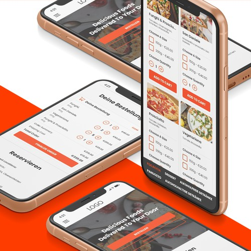 Mobile First Design For A Food Ordering Company