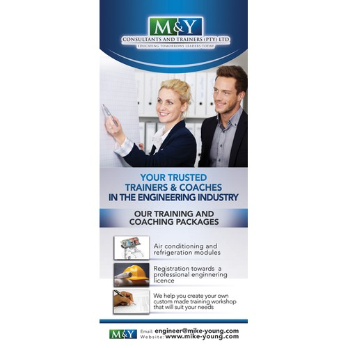 Roll-Up Banner for M&Y Consultants