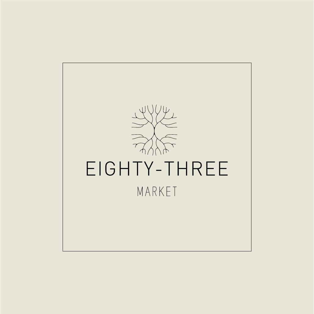 Eighty-three Market needs a versatile logo design to attract customers from all markets