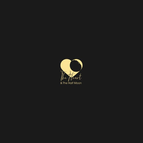 Logo design concept for The heart and the half moon