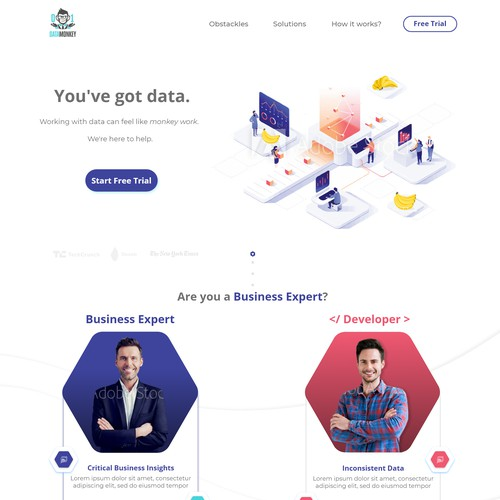 Data Transformer page design
