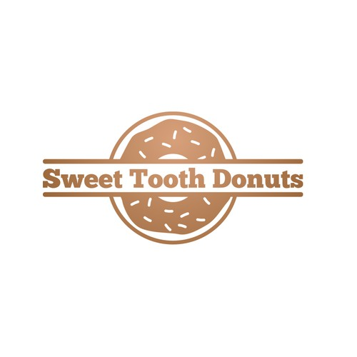Create a logo for the dentist's donut shop: Sweet Tooth Donuts