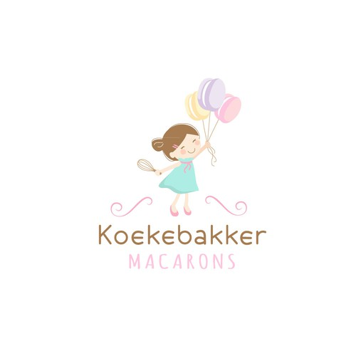 Logo concept for homemade sweet macarons